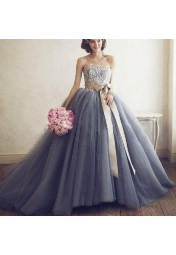Ball Gown Sweetheart Tulle Sweep/Brush Train Dress