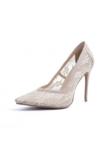 Lace Heel Party Shoes S5MA04142LF