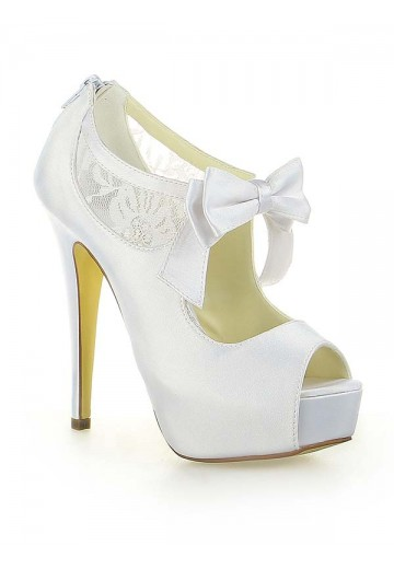Lace Platform Heel Wedding Shoes SW115201251I