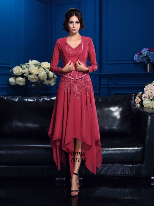 Fashion Chiffon Long Sleeves Applique Special Occasion Wrap