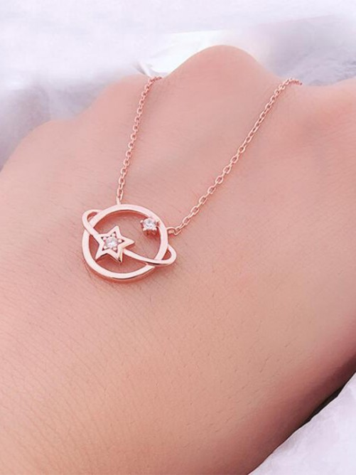 Sterling Silver Necklaces with Universe