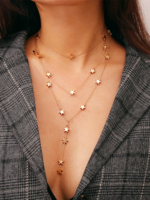 Copper with Star Ladies Necklaces