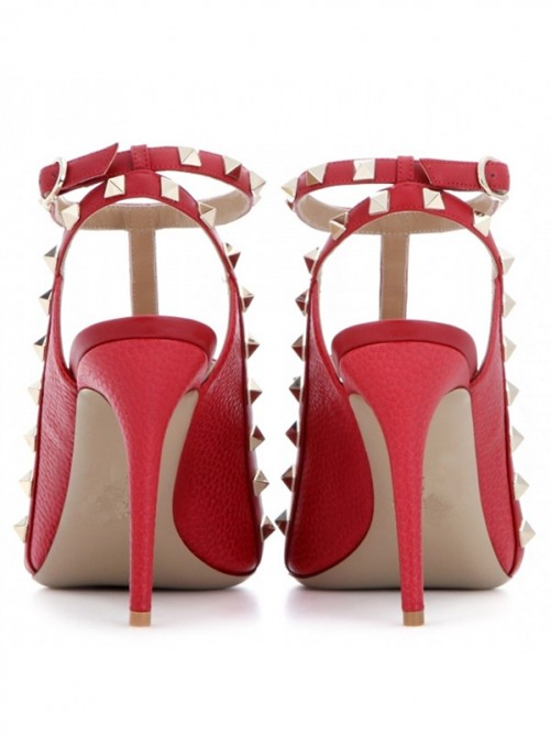 Women's Sheepskin Peep Toe Stiletto Heel Sandals
