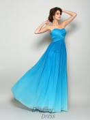 A-Line/Princess Sweetheart Chiffon Floor-Length Dress