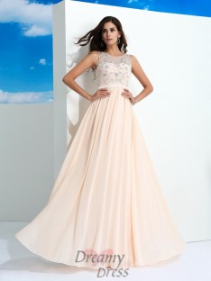 A-line Chiffon Long Dress