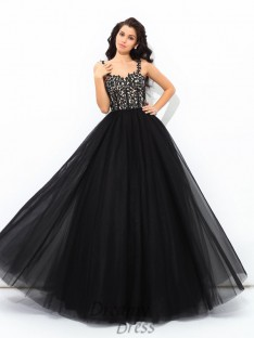 Ball Gown Straps Floor-Length Net Quinceanera Dress