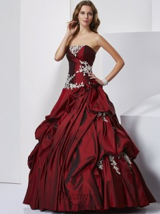 Ball Gown Sweetheart Floor-length Taffeta Dress