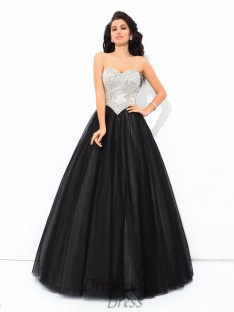 Ball Gown Sweetheart Paillette Net Quinceanera Dress