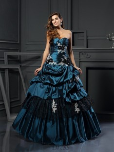 Ball Gown Sweetheart Taffeta Floor-Length Dress