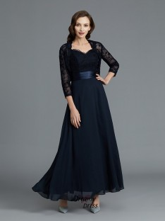 A-Line/Princess Sweetheart Chiffon Ankle-Length Mother of the Bride Dress