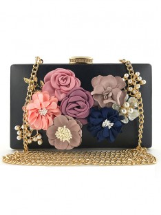 PU Evening/Casual Bags with Flowers