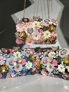 Beading Evening/Party Handbags with Flowers