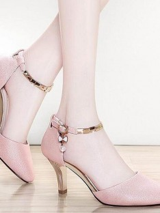 Stiletto Heel Closed Toe Sandals