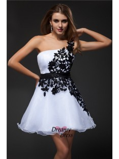 Empire Strapless Short Organza Cocktail Dress