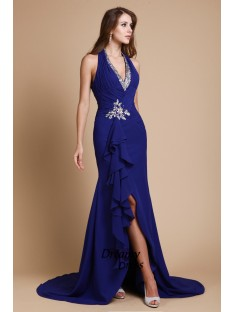 Mermaid V-neck Long Chiffon Dress
