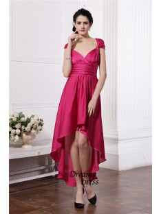 Sheath High Low Chiffon Straps Cocktail Dress