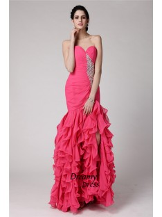 Mermaid Sweetheart Long Chiffon Dress