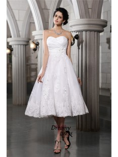 A-Line Sweetheart Short Taffeta Wedding Dress