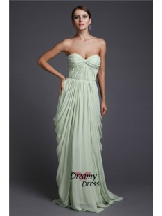 Sheath Sweetheart Long Chiffon Dress