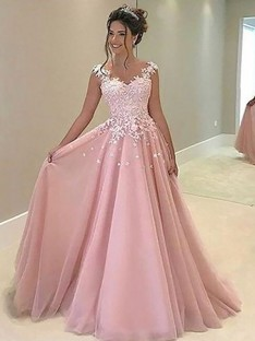 f394552236b A-Line Sweetheart Floor-Length Tulle Dress