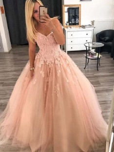 Ball Gown Sweetheart Long Tulle Dress