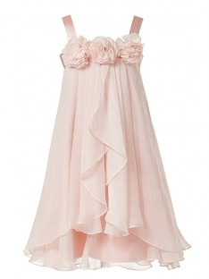 A-Line/Princess Straps Chiffon Floor-Length Flower Girl Dress