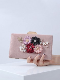 PU Evening/Party Handbags with Flowers