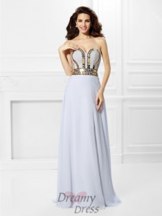 Empire Sweetheart Chiffon Long Dress