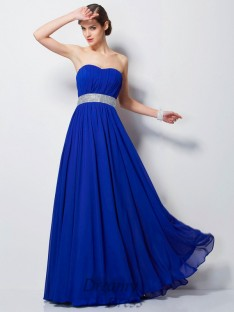 Empire Sweetheart Floor-Length Chiffon Dress