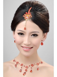 Wedding Headpieces Necklaces Earrings Set ZDRESS3994