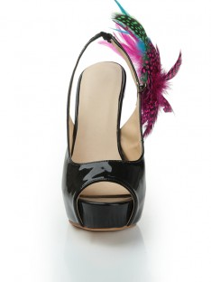 Platform Feather Shoes S1LSDN1070LF