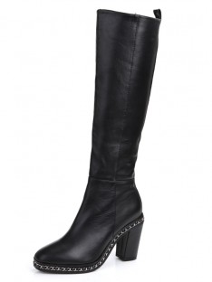 Chain Knee High Boots S5MA0369LF