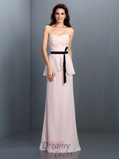 Sheath/Column Sweetheart Chiffon Long Dress