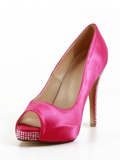 Heel Silk Platform Shoes SMA02810LF