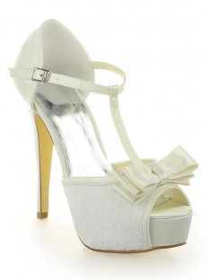 Lace Platform Heel Wedding Shoes SW115201281I