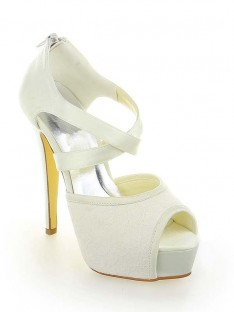 Lace Platform Heel Wedding Shoes SW115201291I