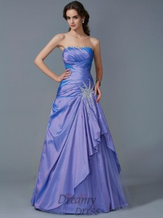 Trumpet/Mermaid Strapless Taffeta Floor-Length Dress