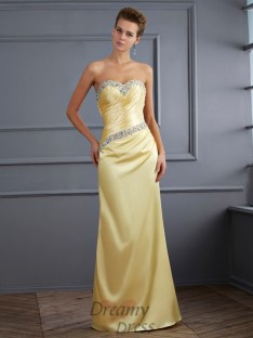 Trumpet/Mermaid Sweetheart Floor-Length Elastic Woven Satin Dress