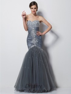 Trumpet/Mermaid Sweetheart Floor-Length Satin Dress