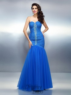 Trumpet/Mermaid Sweetheart Satin Long Dress