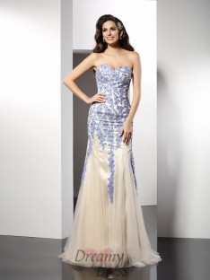 Trumpet/Mermaid Sweetheart Tulle Long Dress